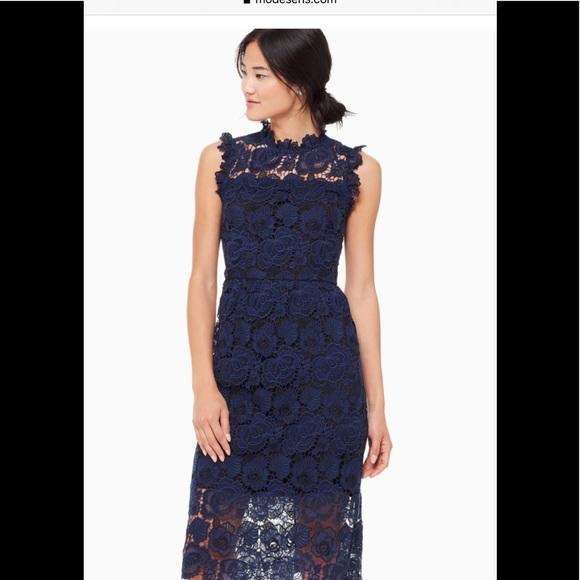 kate spade Dresses & Skirts - Kate Spade Bicolor Lace Midi Dress.  ECU.